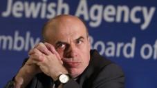 Natan Sharansky, chef de l'Agence juive (Crédit : Miriam Alster/Flash90)