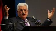 Le président de l'AP Mahmoud Abbas au cours d'un discours à Ramallah  (Crédit : AFP/ ABBAS MOMANI)