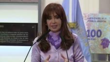 La présidente argentine Cristina Fernandez de Kirchner le 1er octobre (Crédit : YouTube/AFP News Agency)