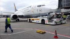 Essai du Taxibot à l'aéroport de Francfort (Crédit photo: Capture d'écran Youtube /Ohad Doron)