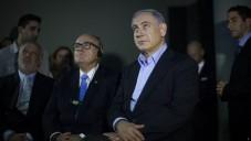 Le Premier ministre , Benjamin Netanyahu (à gauche) avec l'ancien maire de New York, Rudy Giuliani le 2 février 2015 à Jérusalem (Crédit :  Yonatan Sindel/Flash90)