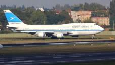 Illustration d'un avion de la compagnie Kuwait Airlines (Crédit : capture d'écran YouTube)