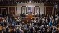 Capture d'écran Le Congrès le 3 mars pendant le discours de Benjamin Netanyahu (Crédit : capture d'écran