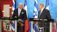 Le Premier ministre Benjamin Netanyahu rencontre le ministre français des Affaires étrangères Laurent Fabius (à gauche), le 21 juin 2015 à Jérusalem (Marine Crouzet / Ambassade de France)