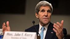 Le secrétaire d'Etat américain John Kerry lors d'une audience devant la Commission des relations étrangères au sénat le 23 juillet 2015 à Capitol Hill à Washington (Crédit : Alex Wong / Getty Images / AFP)
