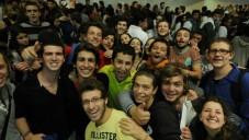 Les étudiants et les bénévoles du monde entier célèbrent MasaFest au Centre International de Conférence à Jérusalem, le 29 octobre 2012 (Crédit : Louis Fisher / Flash90)