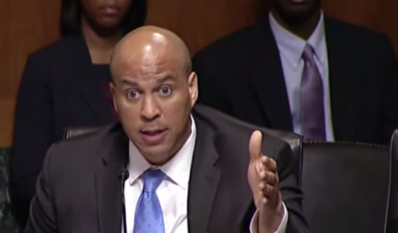 NJ Senator Cory Booker (YouTube screenshot)
