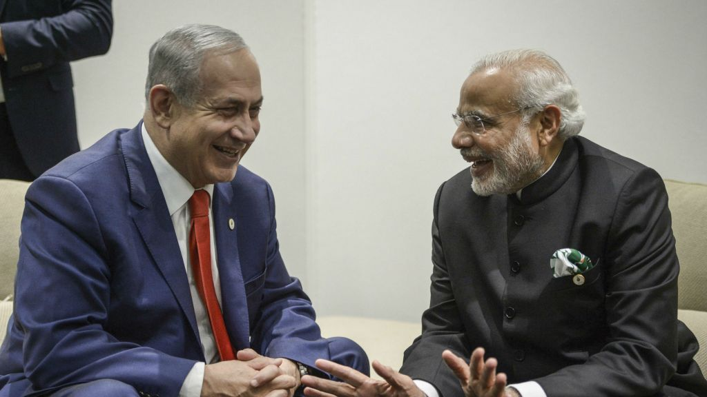 Image result for pics of modi and netanyahu
