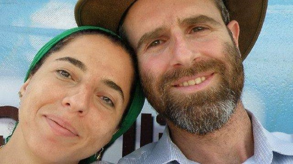 Dafna Meir, left, with her husband Natan Meir in an undated picture posted on Facebook. (Screen capture: Facebook)