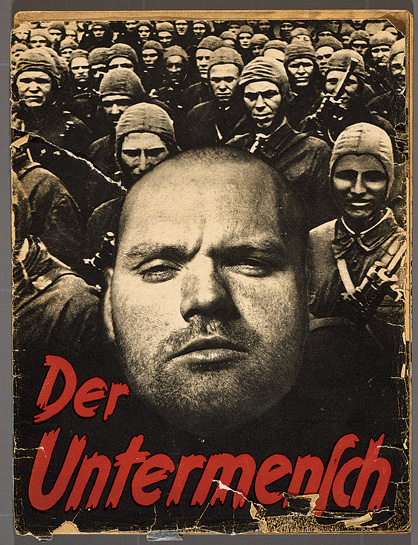 Photocollage cover of 'Der Untermensch' ('The Subhuman'), a 52-page SS pamphlet that used images taken by the Associated Press (Deutsches Historisches Museum, Berlin)