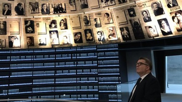 Deputy Labour Leader Tom Watson at Yad Vashem