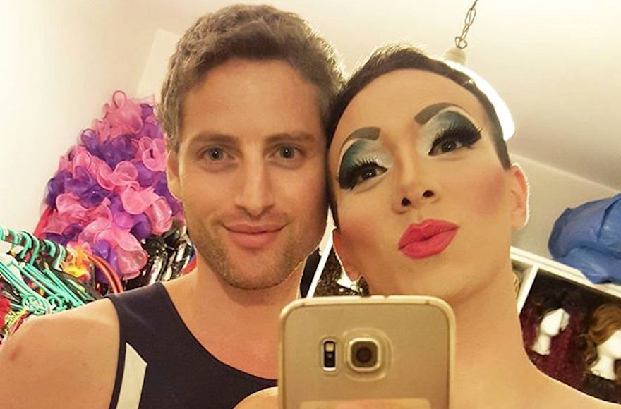 Lior Yisraelov, right, taking a selfie with his partner, Yuval Shimron, in their apartment in Tel Aviv, Israel, Oct. 25, 2016. (Courtesy of Yisraelov)