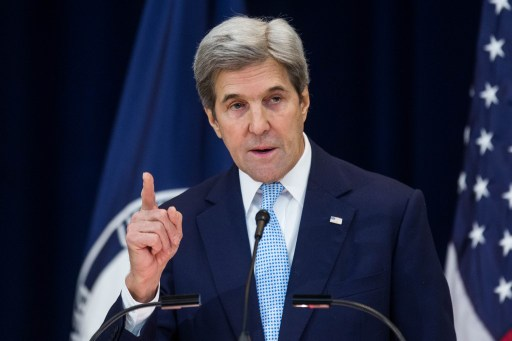 John Kerry delivers his speech on Israel and the peace process at the State Dept. on 28 Dec. 2016