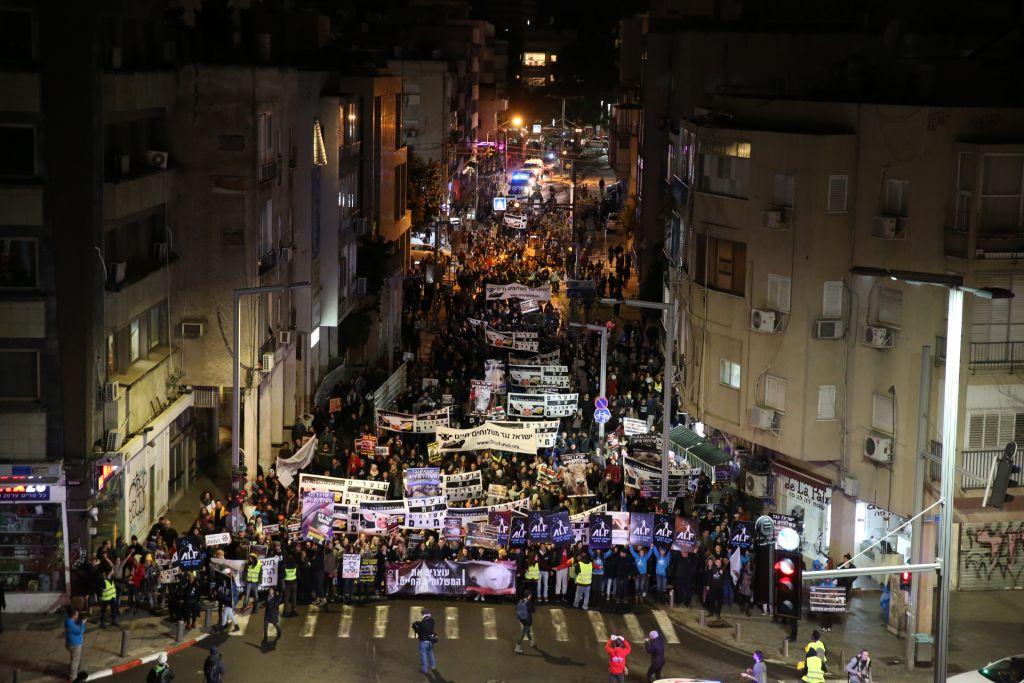 Protest in Tel Aviv against live animal imports, January 28, 2017, ( Revital Topiol)