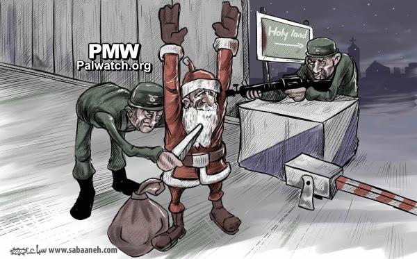 Cartoon from official PA daily Al-Hayat Al-Jadida, Dec. 26, 2016 (PMW)