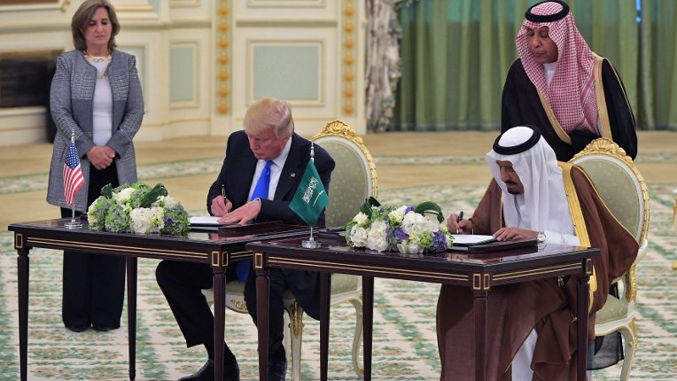 Image result for images of Trump and his family in Saudi Arabia trip on May 20, 2017