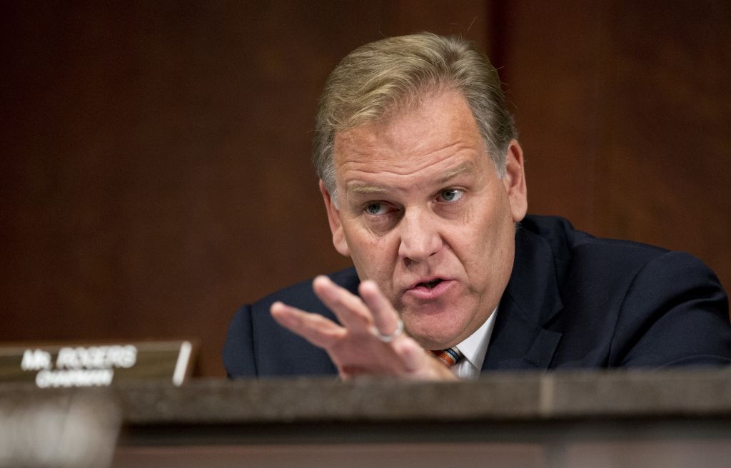 In this Sept. 18, 2014 file photo, House Permanent Select Committee on Intelligence Chairman Rep. Mike Rogers, R-Mich., questions witnesses during a full committee hearing on the threat posed by Islamic extremists, on Capitol Hill in Washington. (AP/Manuel Balce Ceneta, File)