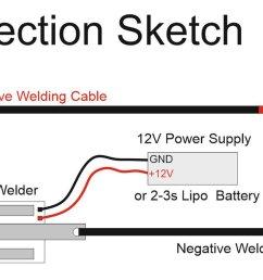 diy arduino battery spot welder v2 prebuilt kit 7 [ 4059 x 1600 Pixel ]