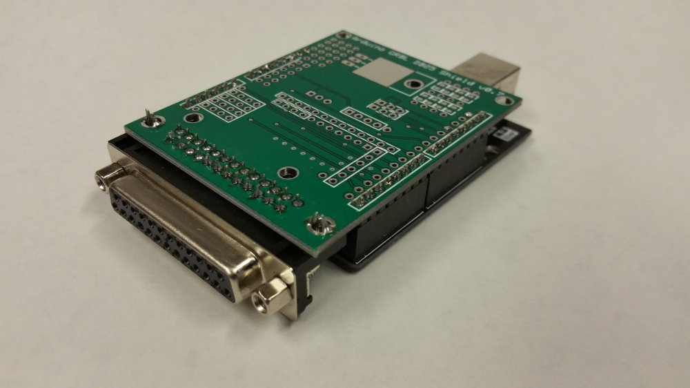 medium resolution of grbl to db25 cnc shield with arduino uno r3