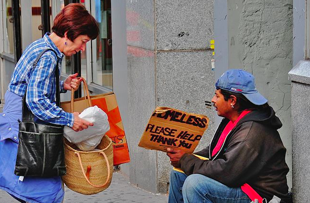 Image result for giving meal to homeless man