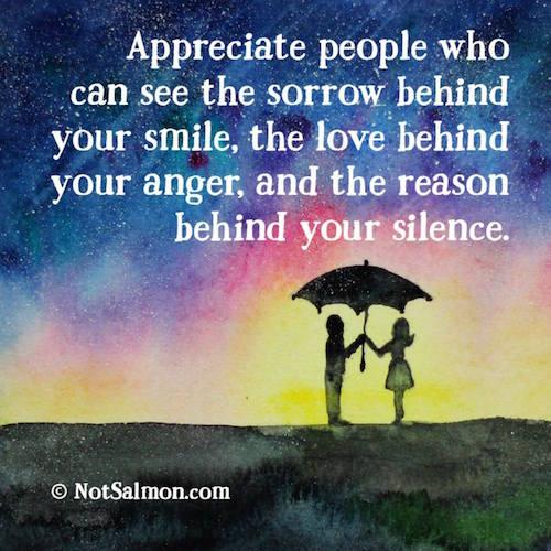 appreciate people who
