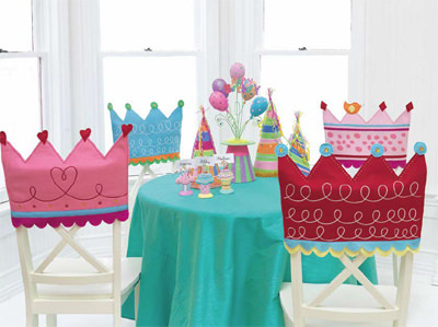 party decorations chair covers navy living room 22 backs to make your pop tip junkie crown birthday