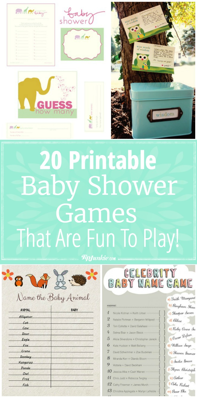 20 Printable Baby Shower Games That Are Fun To Play!