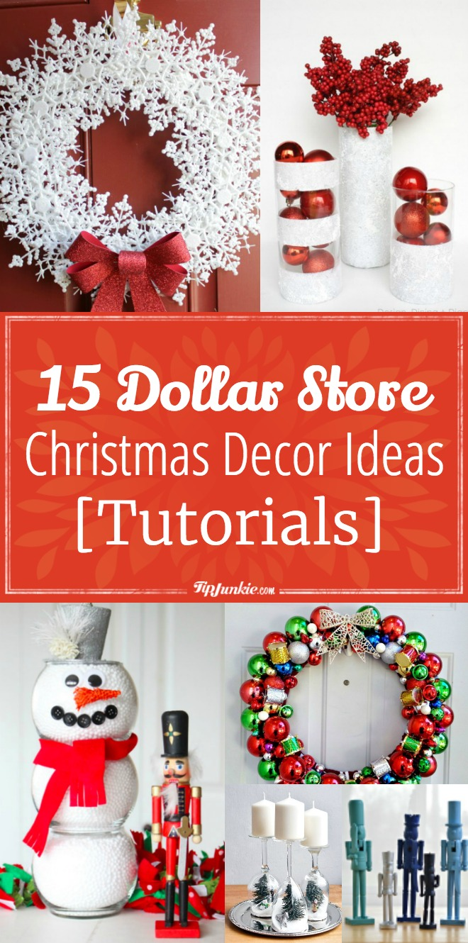 plates to hang on kitchen wall square table 15 dollar store christmas decor ideas [tutorials] | tip junkie