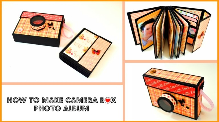 How To Make A Camera Box Mini Album Scrapbook Tip Junkie