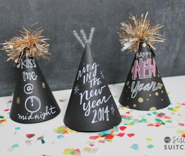Chalkboard Party Hats Free Template