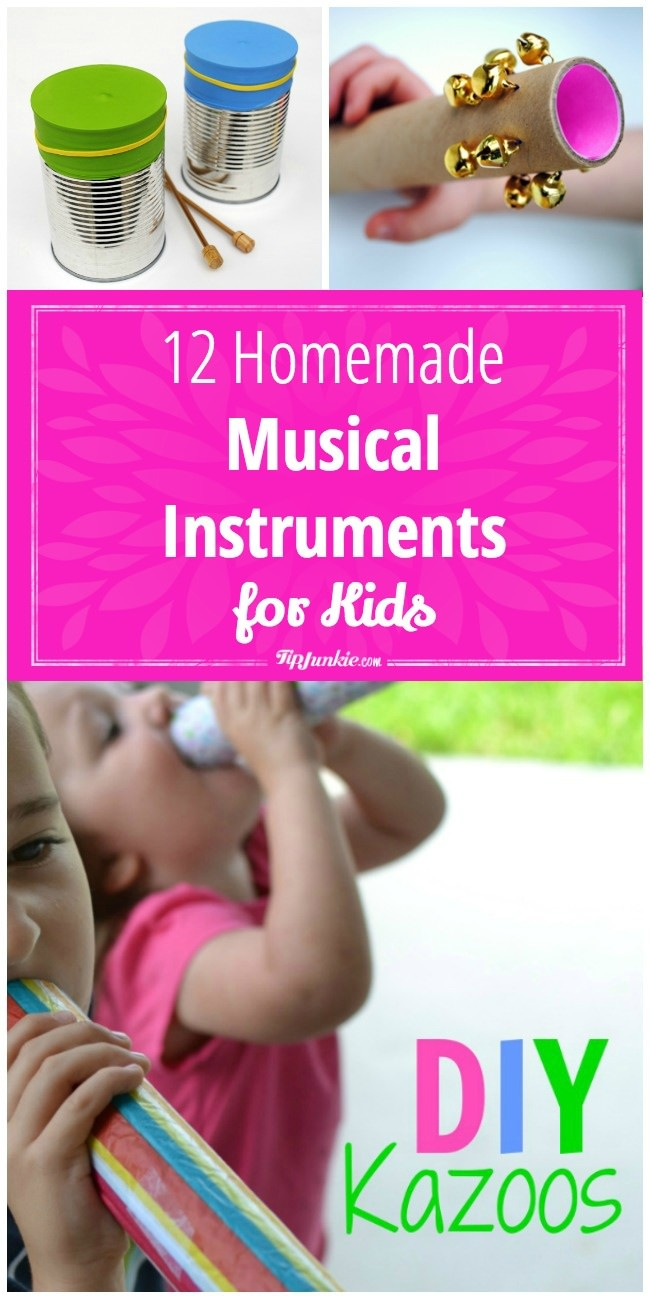 12 homemade musical instruments for kids | tip junkie