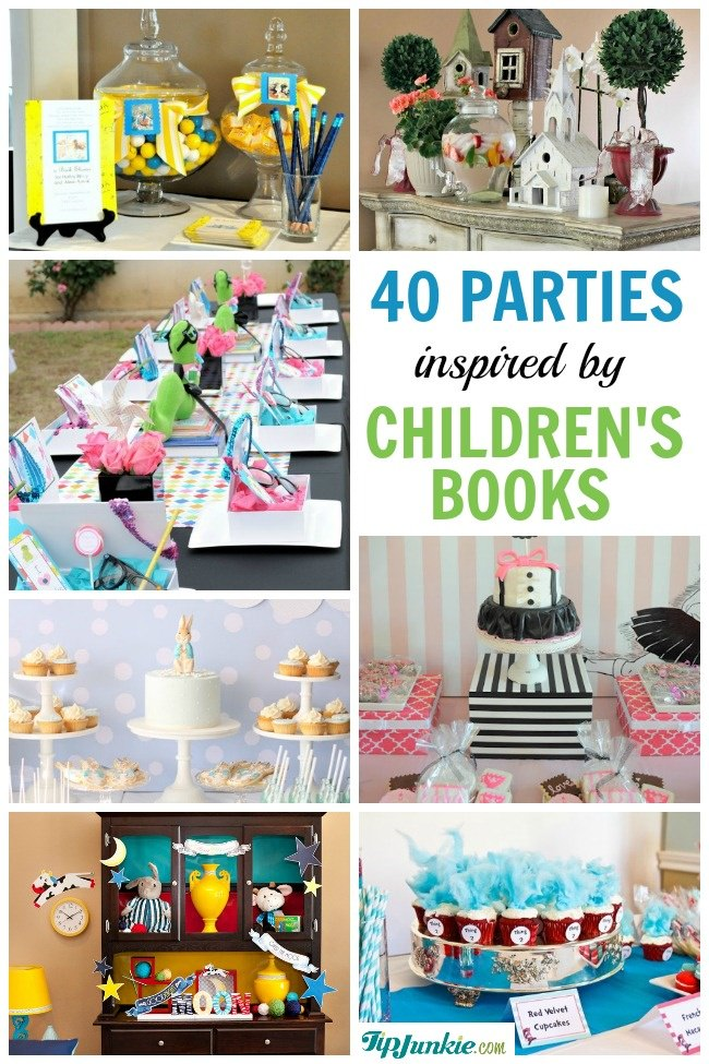 popular childrens book birthday parties