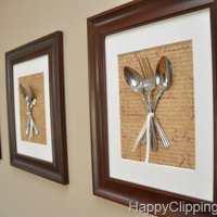 Silverware Wall Art {diy art}