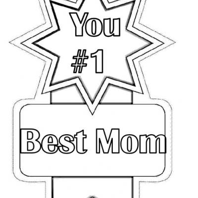 #1 Best Mom Award {mothers day coloring pages}