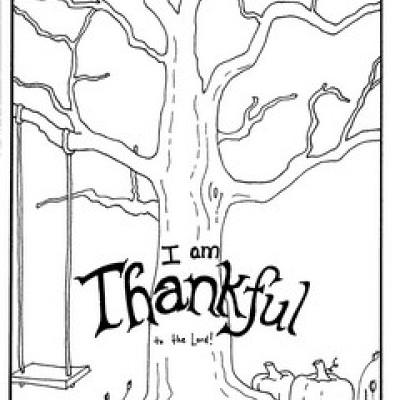 I Am Thankful Coloring Page {Coloring Sheets Printable