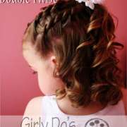 double twist girly girl style hair