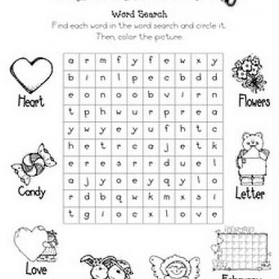 Valentine's Day Word Search {Valentines Day Worksheet