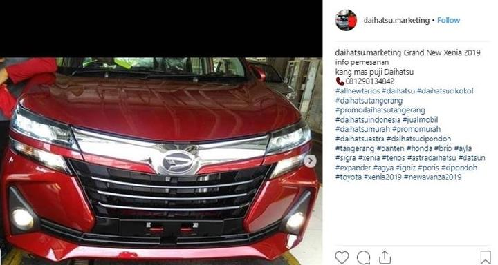 grand new avanza terbaru corolla altis on road price duet maut toyota daihatsu xenia 2 75 juta unit terjual foto 2019 yang diposting akun instagram marketing rabu januari
