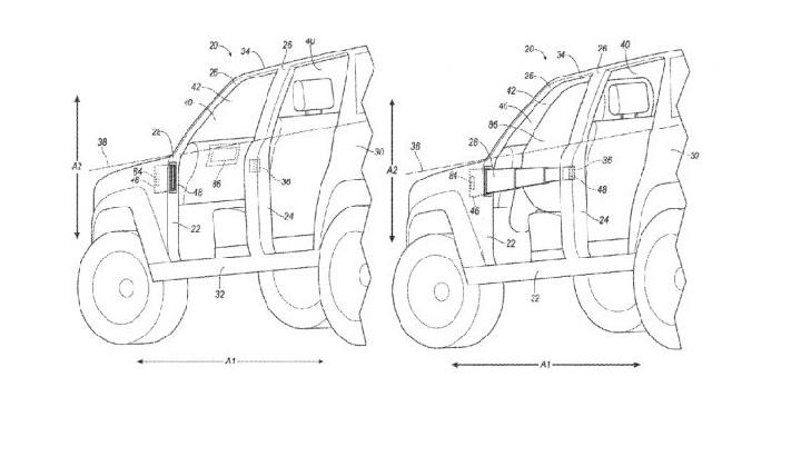 Ford Patenkan Sistem Airbag Baru pada Bronco Pesaing