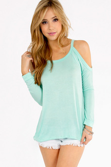 Caseylin Cold Shoulder Top