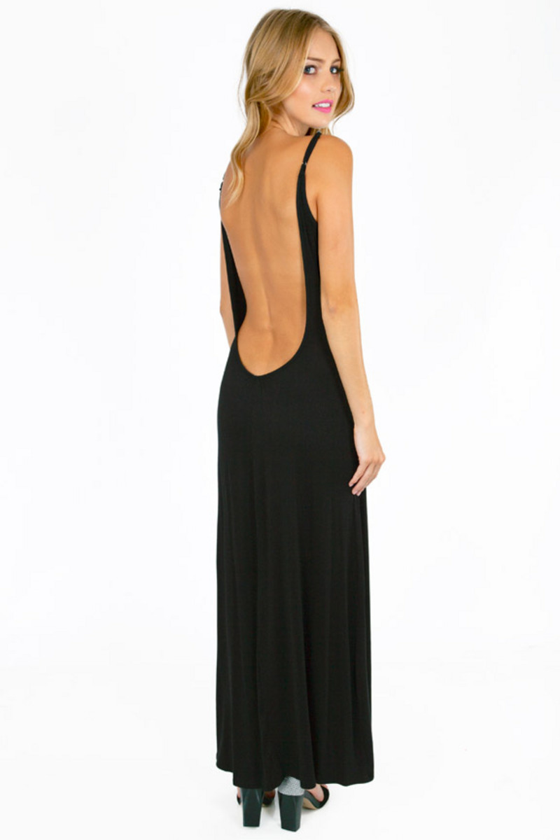 Low-Back Maxi Dress
