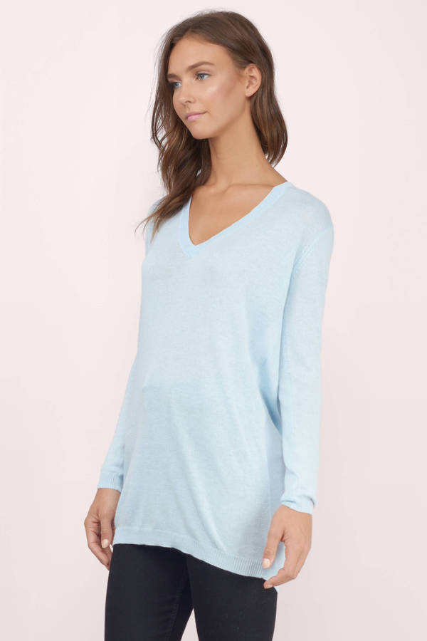 Light Blue Sweater  Blue Sweater  V Neck Sweater  10