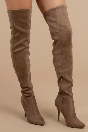 Brown Boots  Thigh High Boots  Brown Stiletto Heeled