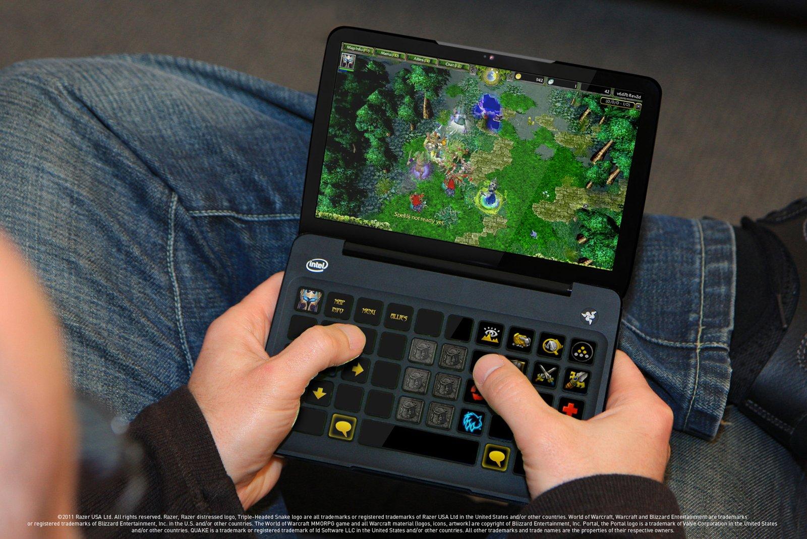 une console portable pour jouer aux jeux pc