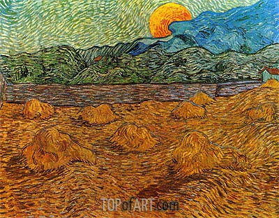 landscape with wheat sheaves