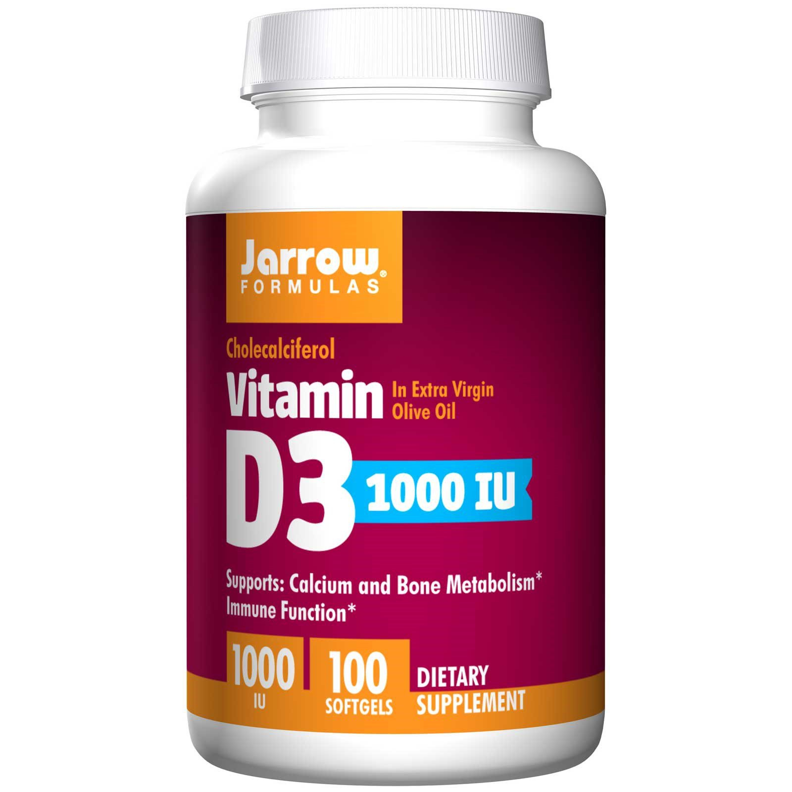 Koop Vitamin D3 1000 IU (100 softgels) - Jarrow Formulas
