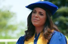 Long Island native Soledad O'Brien spoke to graduates and received an honorary degree. Photo by Kayla Shults.