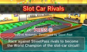 Title Screen for Slot Car Rivals. Image Credit: Nintendo