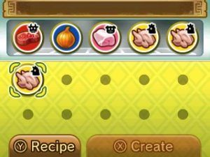 Having limited items to choose from when making a dish. Image Credit: Nintendo