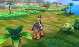 This image shows the player using the new Pokemon Ride feature. Image Credit: Nintendo
